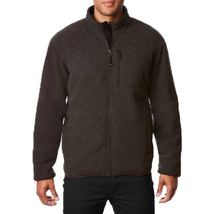 32 Degrees Heat Men's Sherpa Lined Fleece Full Zip Jacket, Charcoal, Lg - $29.69
