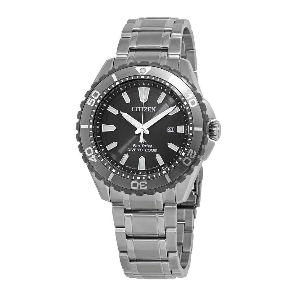 Citizen Men's Eco-Drive Stainless Steel Divers 200 m Watch BN0198-56H