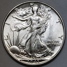 1943 Walking Liberty Half Dollar 90% Silver Coin Lot# E 161