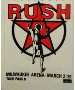 Rush Moving Pictures Backstage Pass Original 1981 Hard Rock Music Concer... - $26.92