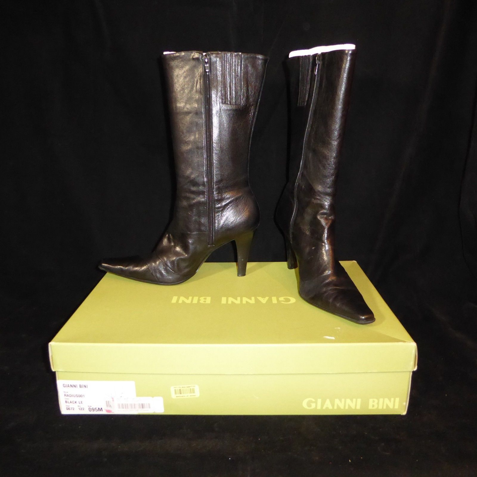 a6f1f9a7f3c Gianni Bini Black Leather Mid-Calf Boots and 24 similar items