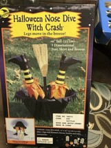 Crashing Witch (nose Dive) Outdoor Halloween Yard Decoration Prop - $13.00