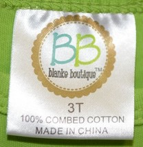 Blanks Boutique Long Sleeved Ruffle Shirt Color Lime Green Size 3T image 2