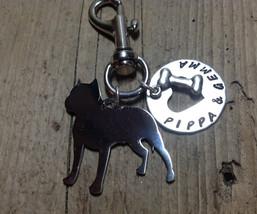 Pit Bull Silver Metal Key Chain  Pittie Dog Lover ID TAG - $18.00