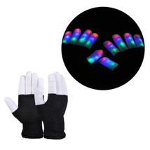 Gloves Light Led Finger Flashing Lighting Glow Mittens Rave Up Glow Mode... - $265,56 MXN