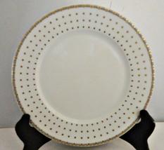 Thun Haviland Fine China Salad Plate Square Gold Dots - $14.84