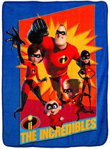 Disney/Pixar Incredibles 2 Family Heroes Super Plush Throw measures 46 x... - $19.95