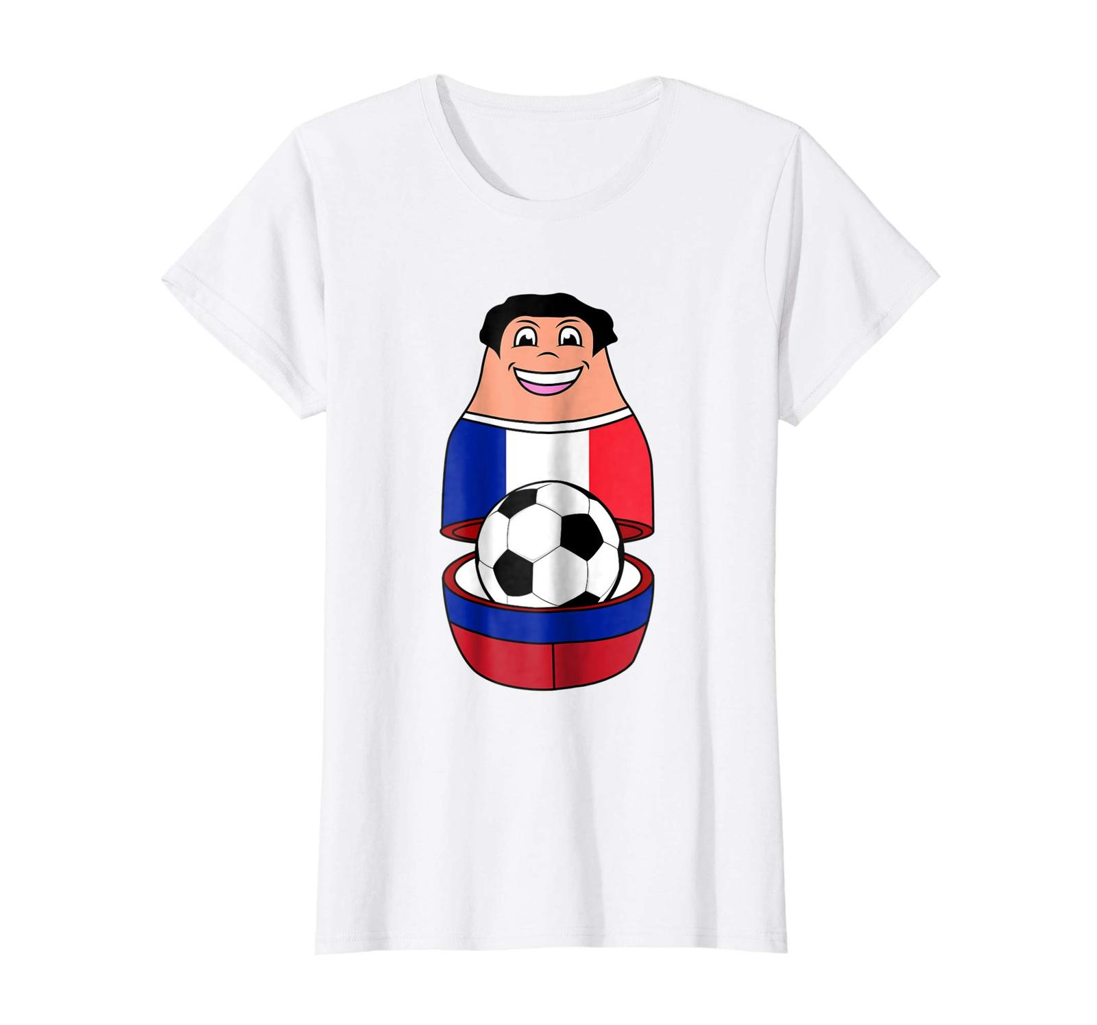 Primary image for New Shirts - France Soccer Mascot Shirt | Cool Russian Nesting Doll Gift Wowen