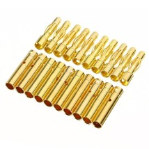 10 Pair 4mm RC Gold-plated Bullet Banana Battery Plug High Quality Conne... - $6.99
