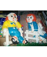 """12"""" Plastic Raggedy Ann and Andy Wall Plaques - $39.55"""
