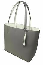 NWT Kate Spade Lakeland Marina Reversible Gray/ White Leather Tote WKRU5342 FS - $129.98