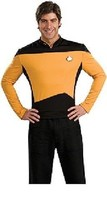 Star Trek The Next Generation Size LG Gold Operations Uniform Deluxe Shi... - $48.62