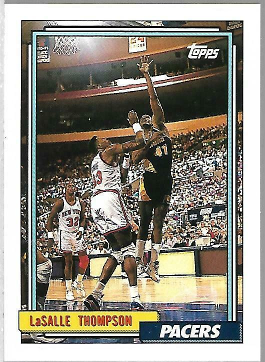 Primary image for 1992-93 TOPPS BASKETBALL-#305-LaSalle Thompson-Pacers-Forward