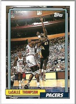1992-93 TOPPS BASKETBALL-#305-LaSalle Thompson-Pacers-Forward - $3.96