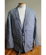 J. Crew 46 L Ludlow Gray Check Baird McNutt Irish Linen Blazer Suit Jack... - $58.90