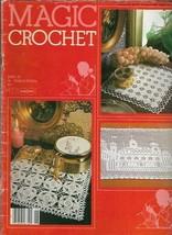 Magic Crochet No 26 Aug 1983 Jasmine Centerpiece Lacy Edgings Starfish &... - $9.89