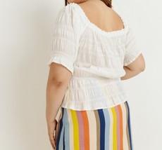 Plus Off Shoulder Top, Cotton Stretch Top, Off Shoulder Plus Size, Ivory image 5