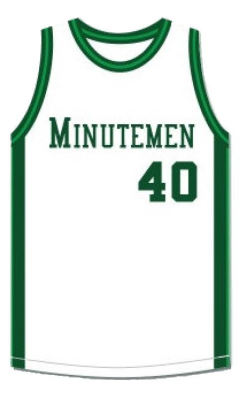Shawn kemp  40 concord high school basketball jersey white  1
