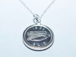 1968 Irish 3d Pendant 49th birthday - S/Plated Mount + Sterling Silver 18 in ch - $20.61