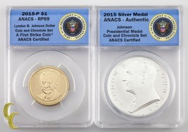2015 Johnson Coin & Chronicle Reverse Proof and .999 Silver Medal RP-69 ... - $78.66