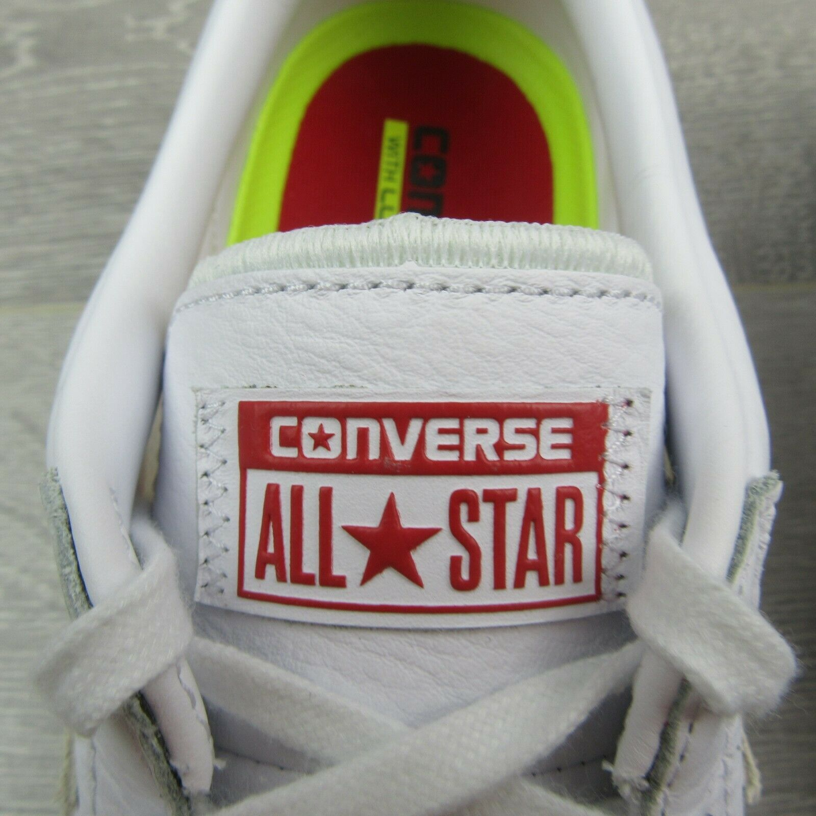 Converse Pro Leather PL 76 OX White Red Low Top 155321C Mens Size 11