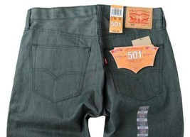 NEW LEVI'S 501 MEN'S ORIGINAL FIT STRAIGHT LEG JEANS BUTTON FLY GREEN 501-1927