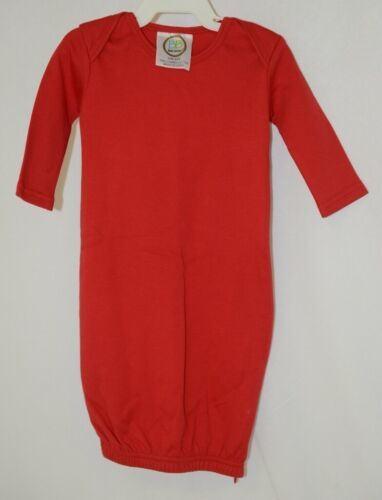 Blanks Boutique Red Long Sleeve Unisex Infant Gown With Hidden Zipper