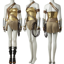 2017 Wonder Woman Gold Armor Battle Gear Cosplay Costume + Sandal Boot Shoes - $72.69+