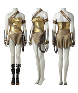 2017 Wonder Woman Gold Armor Battle Gear Cosplay Costume + Sandal Boot S... - $72.69+