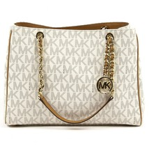 Beige ONE SIZE Michael Kors Womens Handbag SUSANNAH 35S7GAHT3B VANILLA ACRN - $357.65