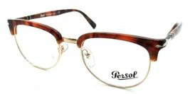 Persol RX Eyeglasses Frames 3197 V 1072 52-20 Brown Tortoise Tailoring Edition - $120.54