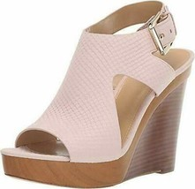 Michael Kors Josephine Soft Pink Women's Wedge Sling Back Sandals Sz 9 M **New** - $80.74