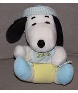 "10"" VINTAGE BABY SNOOPY W/ DIAPER KNICKERBOCKER STUFFED ANIMAL PLUSH TOY... - $29.69"