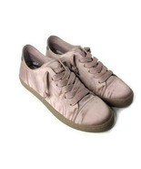 Dolce Vita Womens Size 11 Xylon Low-Top Sneakers Pink Blush Satin - New - $29.69