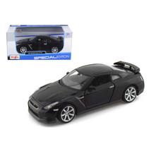 2009 Nissan GT-R R35 Black 1/24 Diecast Model Car by Maisto 31294bk - $28.33