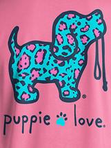 Puppie Love Rescue Dog Men Women Short Sleeve Graphic T-Shirt, Leopard Pup image 2