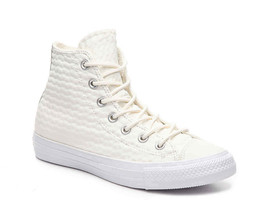 Converse Chuck All Star Leather Hi-Top Sneakers Mens Size 8 Women 10 Reg... - $39.98