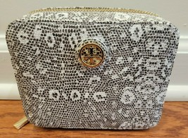 TORY BURCH White and Gray Ring Lizard Zip Jewelry Case - NWT - $135.00 - $84.15