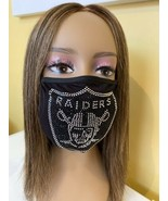 Oakland Raiders  Las Vegas Raiders NFL Bling Logo Face Mask With Filter ... - £12.73 GBP