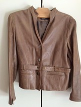 Women's Brown Leather Jones New York Collection Jacket - $72.00