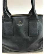 Kate Spade Black Pebbled Leather Southport Avenue Jenny Satchel Purse Ca... - $79.19