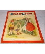 Children's Antique Illustrated Mother Goose Book Mary Lafetra Russell  - $99.95