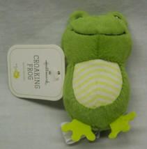 "Hallmark MINI CROAKING FROG WITH SOUND 4"" Plush STUFFED Toy NEW - $14.85"
