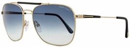 Tom Ford Edward Gold / Blue Gradient Sunglasses TF377 28W 58mm  - $195.02