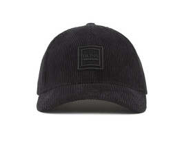 Hugo Boss Men's Cotton Corduroy Baseball Cap Hat With Silicone Logo image 2