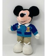 Disney Store Plush EMPLOYEE MICKEY MOUSE Blue Cardigan Sweater Stuffed T... - $15.99
