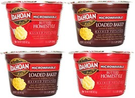 Idahoan Microwavable Instant Mashed Potatoes Variety Bundle: 2 Buttery Homestyle image 1