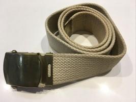 WWII U.S. Army Officer's Uniform Trouser Belt Khaki Color - $18.66
