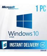 Microsoft Windows 10 HOME - Full Retail 32-Bit 64-Bit 60sec Delivery Win... - $27.99