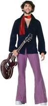 70's Rock Star Woodstock Hippie Sonny Bono Fancy Dress Halloween Adult C... - $60.53